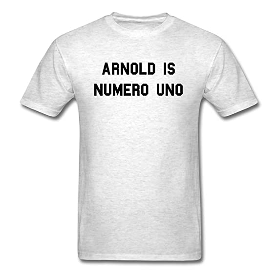 8bf53adad Amazon.com: Arnold is Numero Uno Weightlifting Ringer T-shirt: Clothing