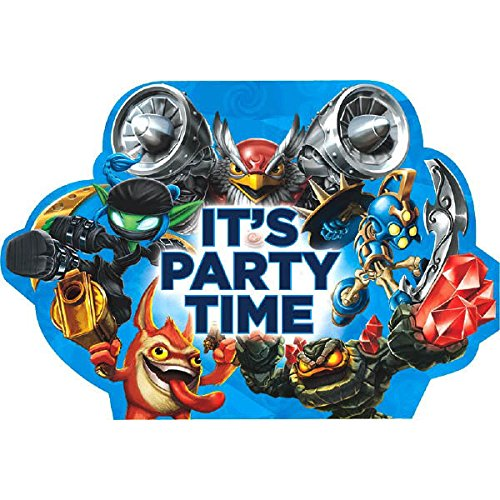 Skylanders Party Invitations [8 Per Pack]
