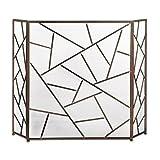 modern fireplace screens Tom & Co. Modern Geometric Fireplace Screen