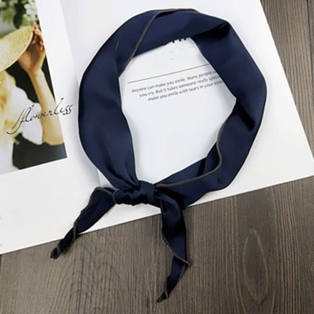 Donna Fascia Sciarpa Triangolo Scarf Colore Solido Foulard Fazzoletti da collo