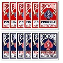 12 Decks of Bicycle Pinochle Playing Cards - Includes 6 Bonus Cut Cards!