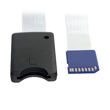 Kit estándar de tarjeta de memoria SD SDHC Chenyang, extensión SD macho a SD hembra, cable de extensión plano flexible de 25 cm.