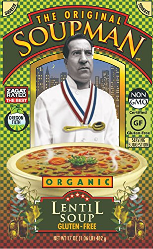 The Original Soupman Organic Lentil Soup Gluten Free 17 Oz Pack of 6