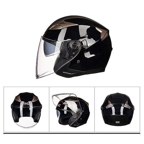 Casco Motocicleta Masculina Medio Casco Casco Eléctrico Casco Femenino Adecuado Para Cabeza Y Cola 55cm-