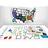"RV Sticker - 13"" x 17"" inches - RV Trailer Accessories - RV State Sticker Map - Road Trip - RV Decals - USA State Map - Motorhome Sticker - Road Trip Accessories - Travel Stickers - Map of US States"