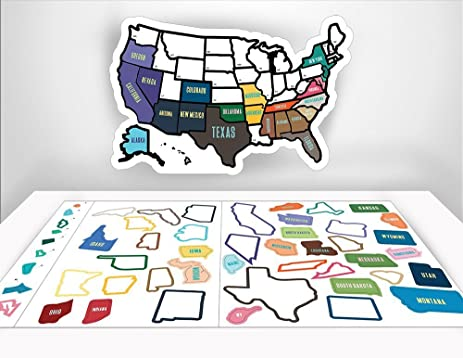 Rv State Sticker Travel Map 13 Quot X 17 Quot Usa States Visited Decal