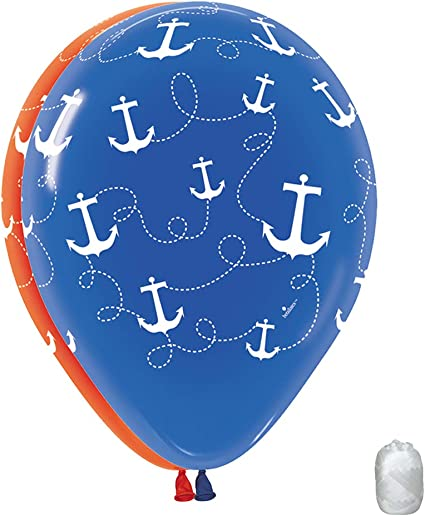 10 Pack 11 1st First Birthday Boy Blue Latex Balloons with Matching Ribbons Generic