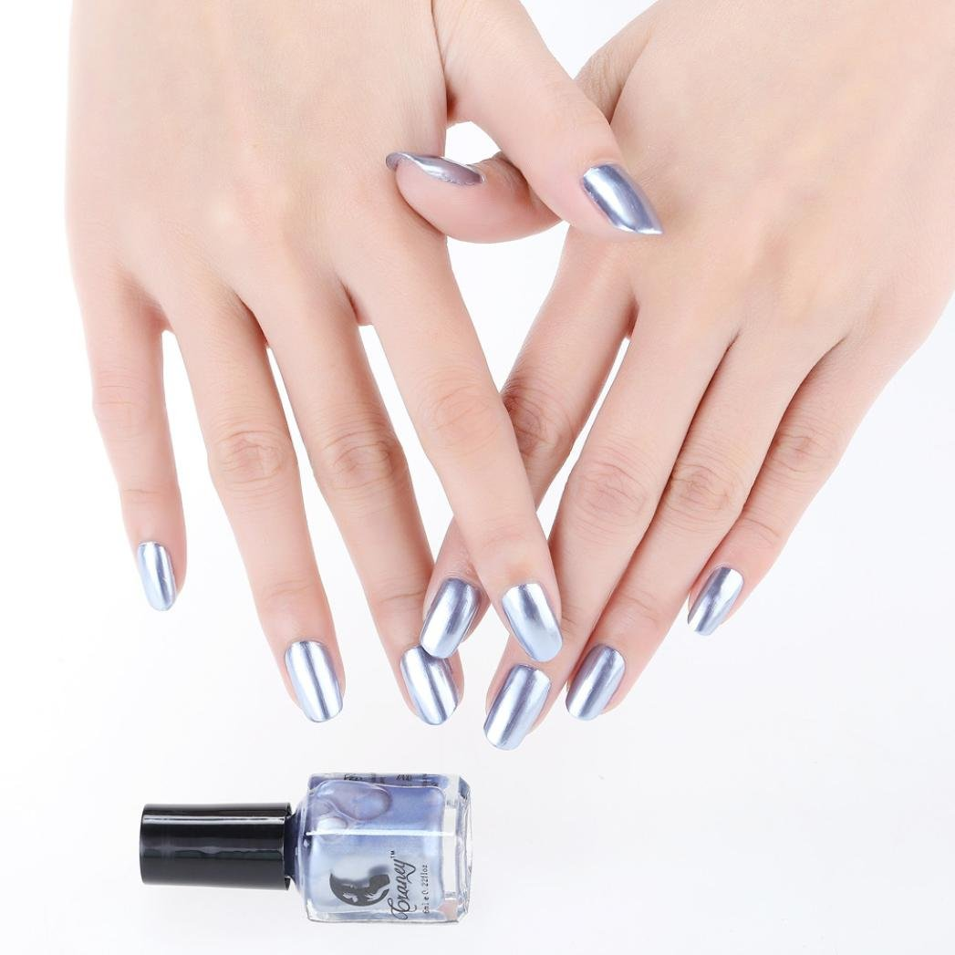 Hstore Mirror Nail Polish geisha Plating Silver Paste Metal Color Stainless Steel Mirror (A)