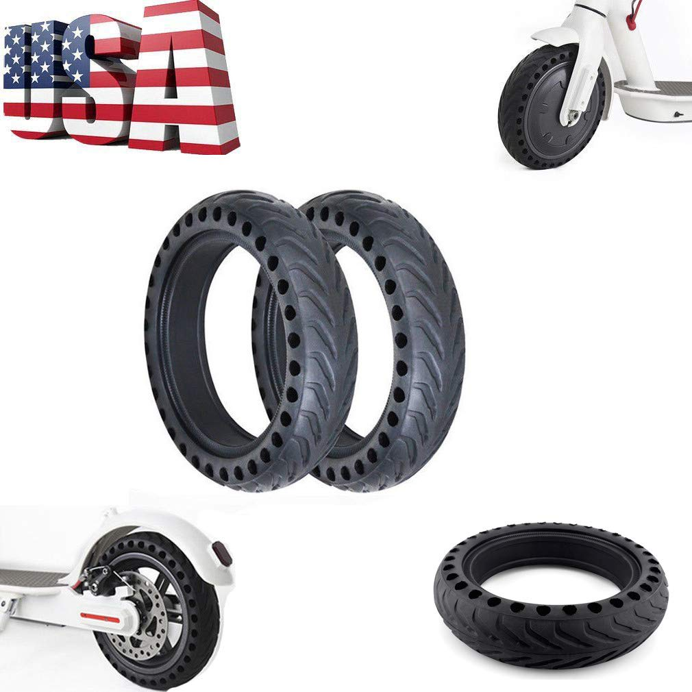 Youen Scooter Tire for Xiaomi, Mijia M365 Electric Scooter Replacement Rubber Tire, 8.5 Inches Scooter Wheel's Replacement Explosion-Proof & Anti-Slip Solid Tire (Black)