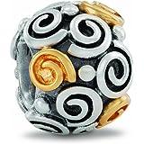 Pandora Damen-Bead  Sterling-Silber 925 Rosenkugel KASI 79414