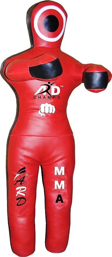 Black//Red Brazilian Grappling Dummy MMA Wrestling Judo Art Leather