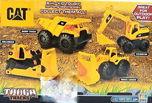 Amazon Com Caterpillar Toy State Tough Tracks Cat Mini Workers Dump