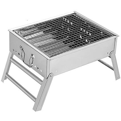 Amazon.com: nclon plegable portátil, barbacoa de carbón ...