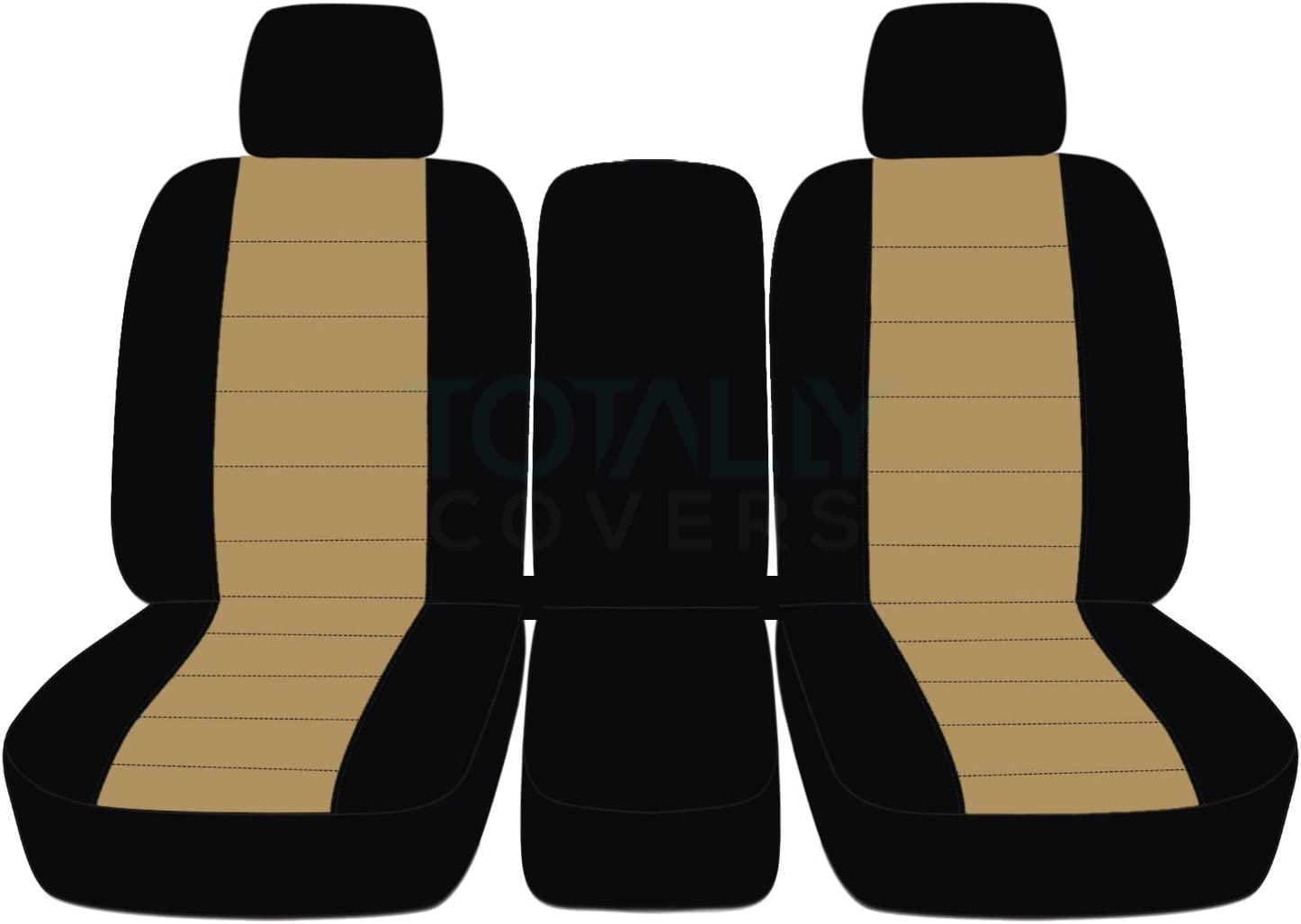 21 Colors w 2 Headrests /& Opening Center Console//Solid Armrest: Black /& Gray F-Series F150 Totally Covers compatible with 2009-2010 Ford F-150 Two-Tone Truck Seat Covers Front 40//20//40 Split Bench