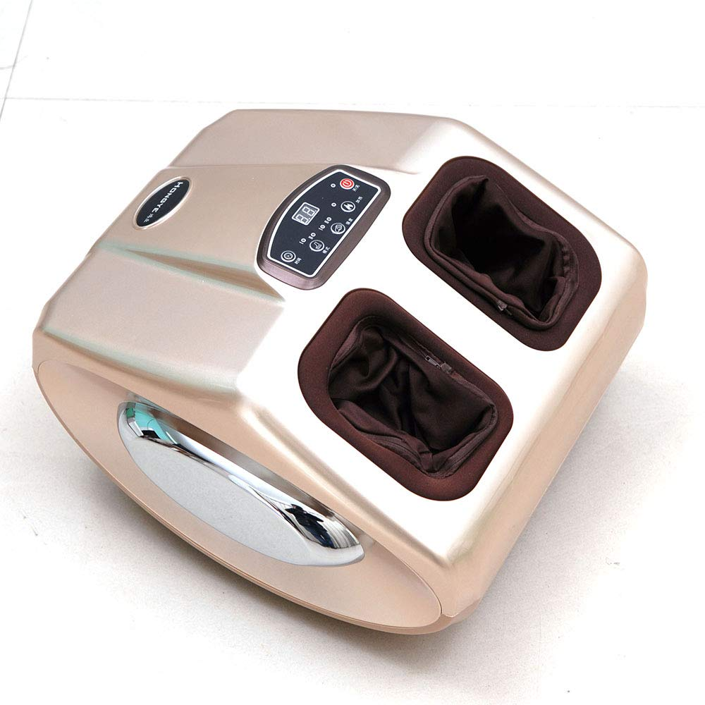 足のマッサージャー、指圧のフットマッサージャーの機械、循環の足のための深い混練足の筋肉救済足底筋膜炎神経症慢性神経ホームオフィス用,Gold B07SYGGDS2 Gold