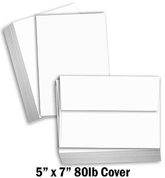 Cartulina blanca de papel grueso de Hamilco, con índice en blanco ...