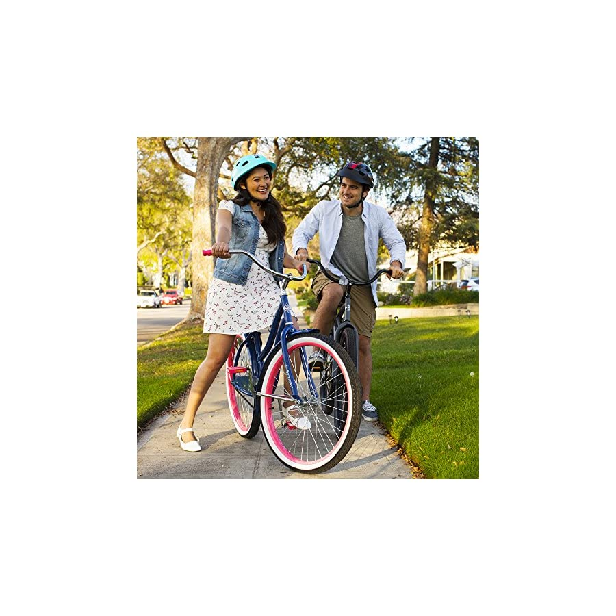 "Huffy 24"" & 26"" Beach Cruiser Bike for Men & Women, Fairmont"