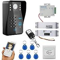 HD 720P Wireless WIFI RFID contraseña video puerta teléfono timbre intercomunicador sistema de la visión nocturna + cerradura de cerrojo eléctrico + sistema de control de acceso impermeable