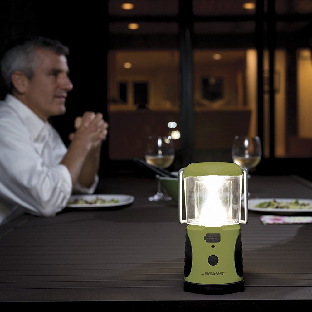 Mr. Beams MB472 UltraBright 260 Weatherproof Lumen LED Lantern with USB Port as a Backup Battery Charger, Green, 2-Pack by Mr. Beams (Image #7)