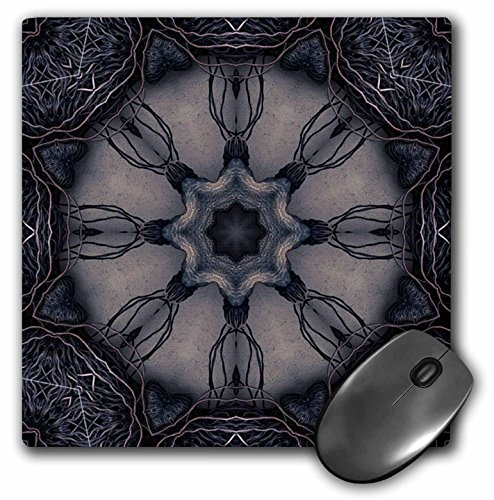 (3dRose LLC 8 x 8 x 0.25 Inches Mouse Pad, Dark Gothic Ornament 3 (mp_42439_1))