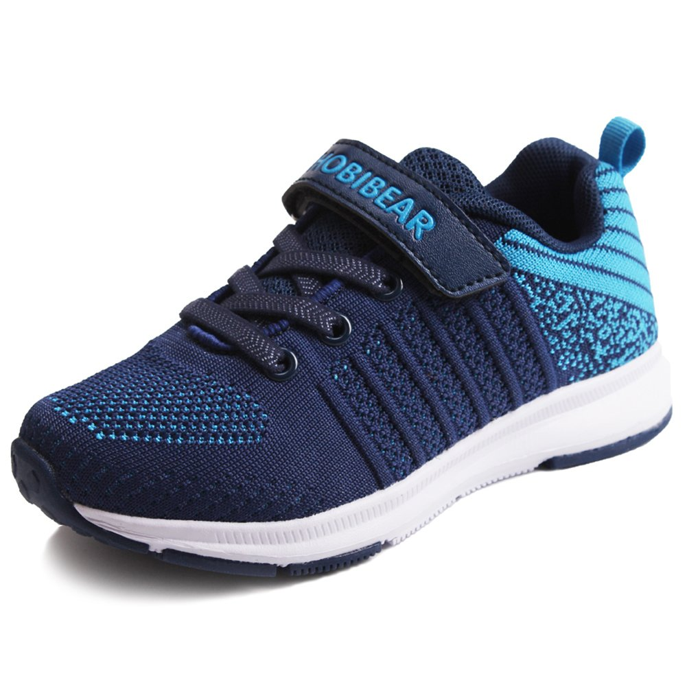 Girls Sneakers School Boys Sports Running Casual Kids Shoes Athletic Walking Lightweight Breathable Blue 31