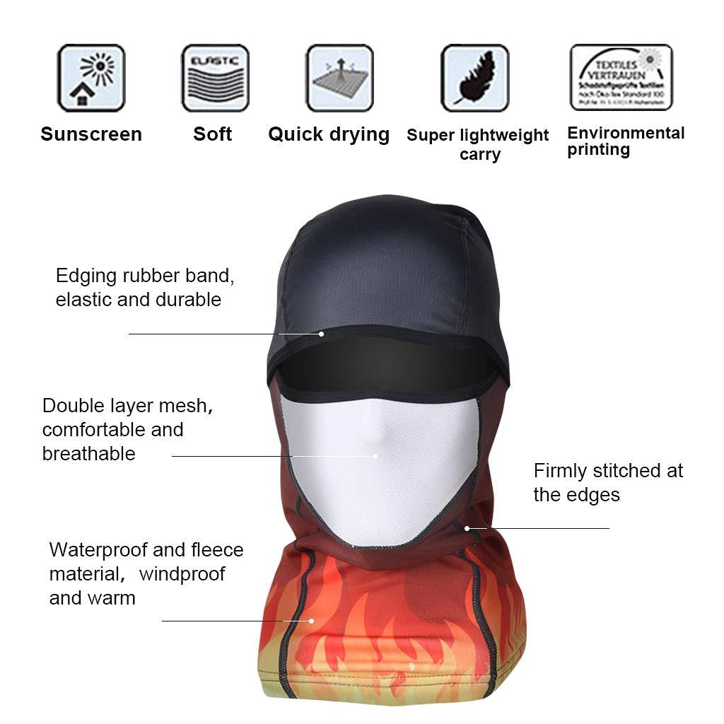 Balaclavas Skiing Windproof Mask Neck Warmer Adults Fleece Winter Cap Hat Hood