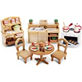 Calico critters lakeside lodge set toys games - Calico critters deluxe living room set ...