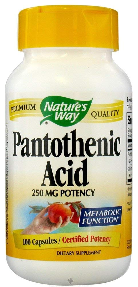 Nature'S Way Pantothenic Acid 250Mg 100 Cap