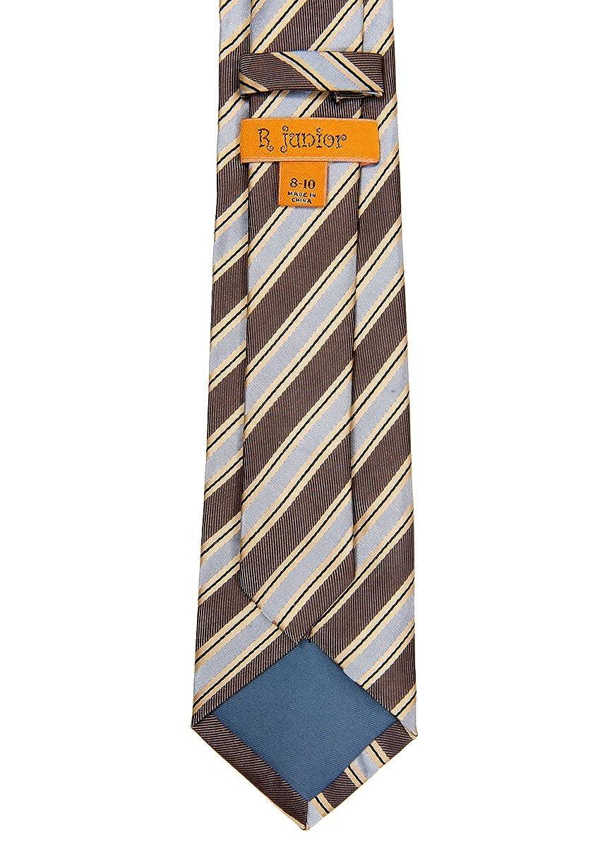 Various Colors Preppy Stripe Pattern Woven Boys Tie 8-10 years