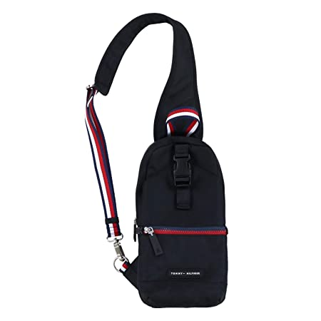 Tommy Hilfiger Single Strap Backpack Crossbody   Signature Black by Tommy Hilfiger