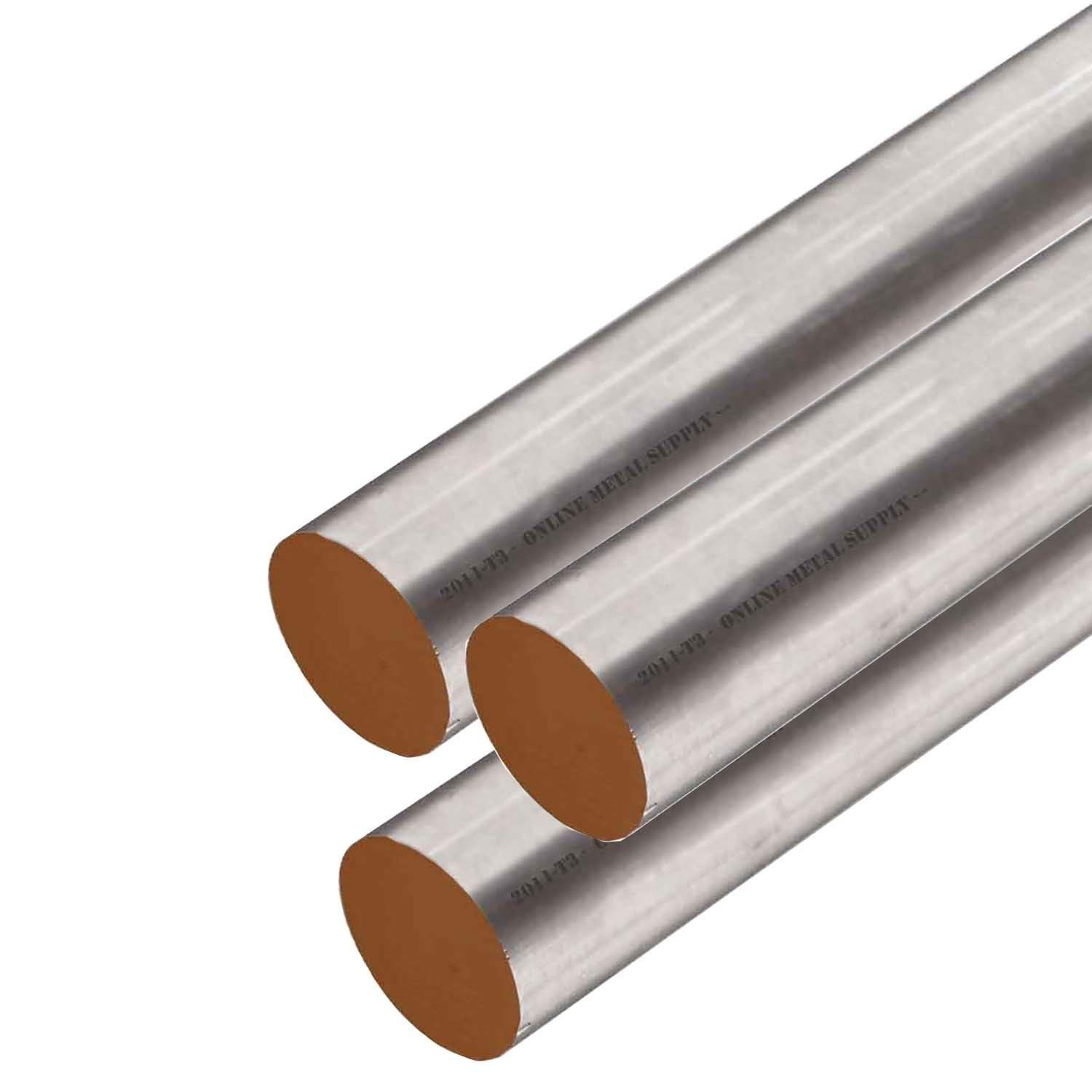 Online Metal Supply 2011-T3 Aluminum Round Rod, 0.437 (7/16 inch) x 12 Feet (3 Pieces, 48'' Long) by Online Metal Supply