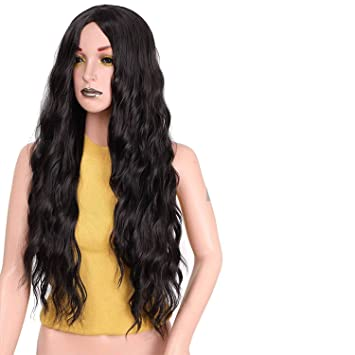 "Its a wig 30"" Synthetic Red Dark Brown and Blonde Hair Long Wigs for Women"