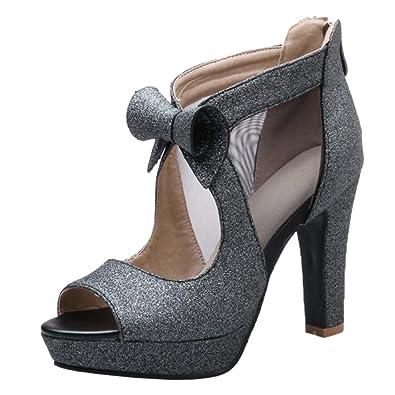 RAZAMAZA Damen Elegant Peep Toe Sandals