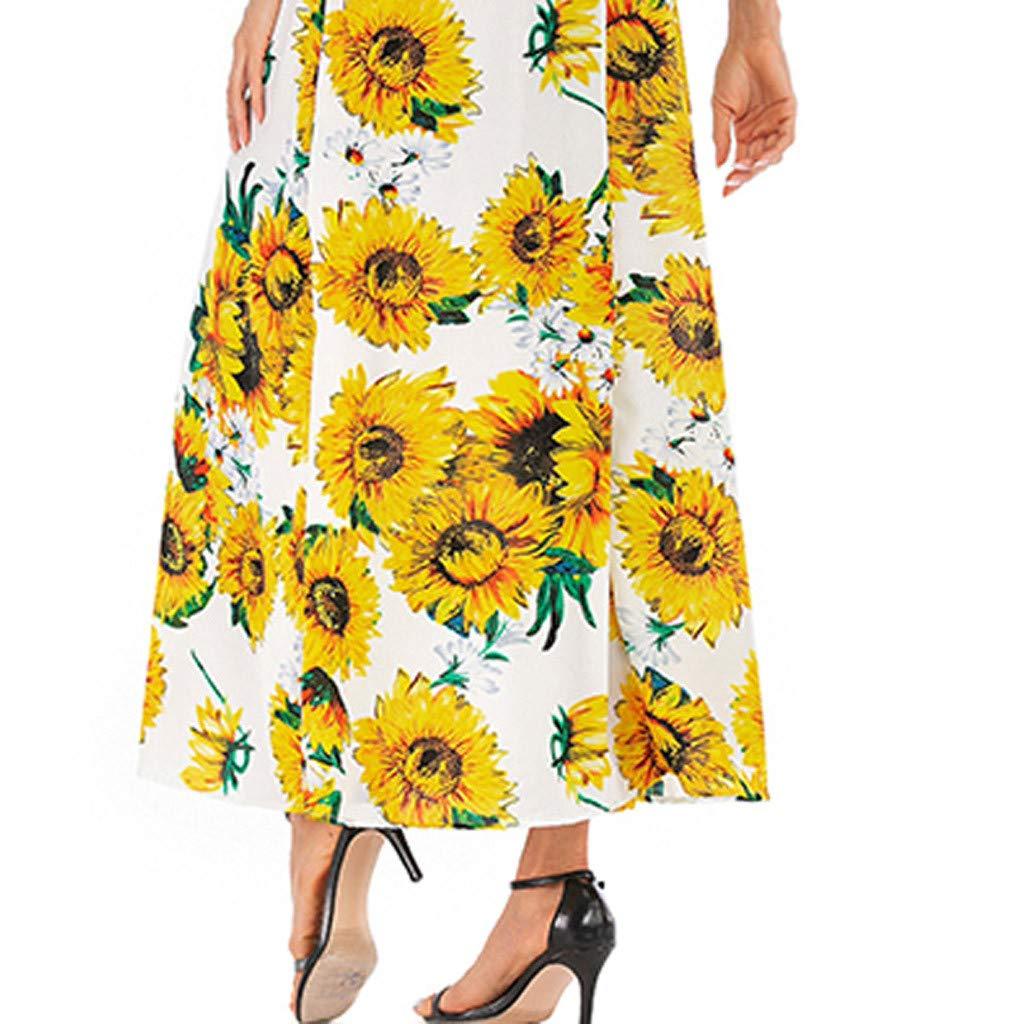 Amazon.com: Vestido maxi de mujer con cuello en V y manga ...