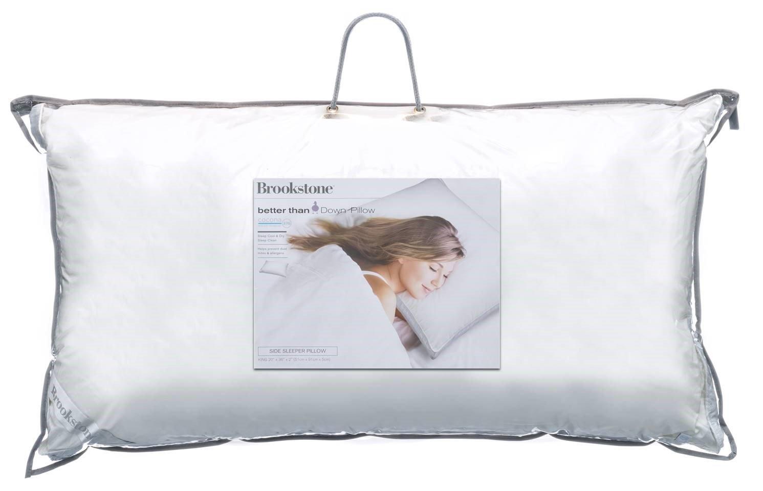 Brookstone Classic Pillow with 37.5 Temperature Regulating Technology, Medium-King, Side Sleeper
