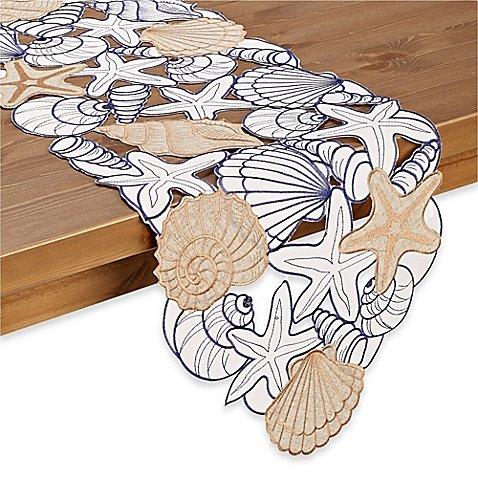 Sam Hedaya Cobb Island 90 Inch Table Runner | 100% Polyester