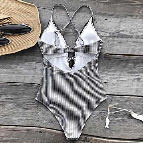 Lace Intero Bluestercool Costumi Swimwear Mare Donna Nero xOOIgq