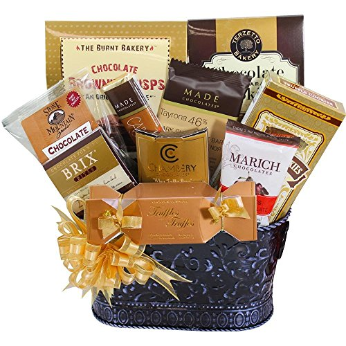 Hooked on Chocolate Assorted Truffles and Treats Gift Basket (Ice Packaging)