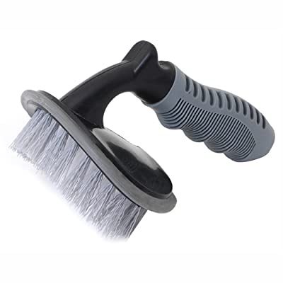 GARASANI Car Wheel Cleaning Brush Tire Rim Scrub Brush Soft Alloy Brush Cleaner Tie: Automotive