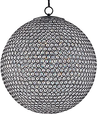 Maxim 39887BCBZ Glimmer 12-Light Chandelier, Bronze Finish, Beveled Crystal Glass, G9 Xenon Xenon Bulb , 100W Max., Wet Safety Rating, Standard Dimmable, Glass Shade Material, 1150 Rated Lumens