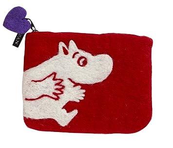 Moomin - Monedero 14 x 10 cm (Klippan), Fieltro, Rojo, 14 x ...