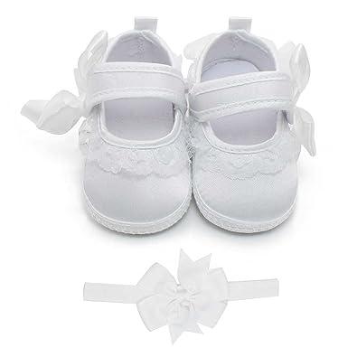 data di rilascio: negozio del Regno Unito 100% autentico DELEBAO Scarpe Primi Passi Scarpe Battesimo Bimba Bianche Scarpe da Neonato  Morbido