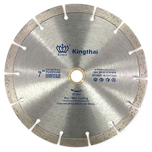 Kingthai 7 inch Segmented Diamond Blade for Concrete Masonry with 7/8-5/8