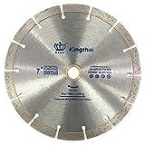 "Kingthai 7 inch Segmented Diamond Saw Blade for Cutting Concrete Masonry with 7/8-5/8"" Arbor"
