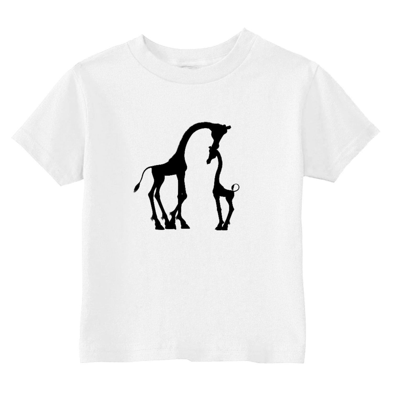 Custom Kids Giraffe Love Toddler T-Shirt 7T Gray U.S