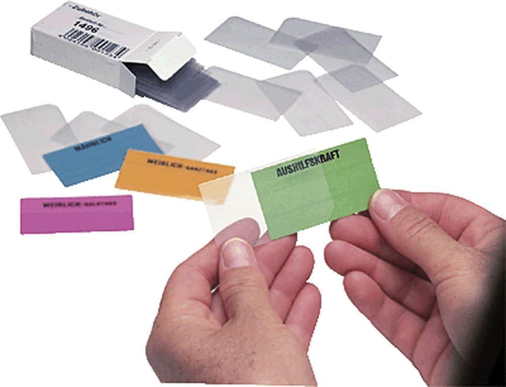 Ultradex Schutzh/üllen f/ür Einsteckkarten//1494 4cmx3,4cm transparent Kunststoff Inh.50