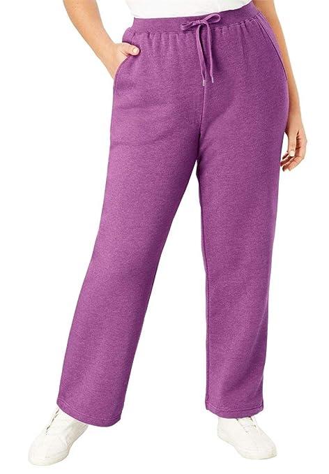 3e28d00a2a7 Amazon.com  Woman Within Plus Size Petite Better Fleece Sweatpant ...