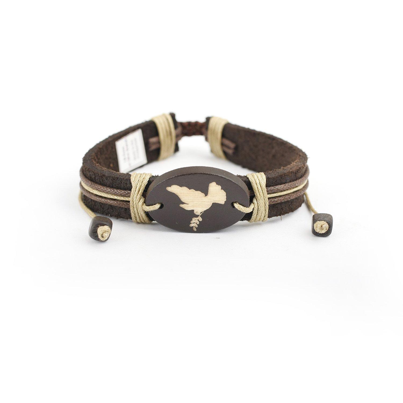 Adjustable Leatherette Bracelet - Spritituality Religion Jewelry Volt LB-CROSS