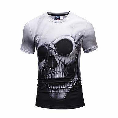 31c5a6be9efe Yonbii 2018 New Style Unisex Digital Print Slim Fit T-Shirt With Cartoon 3D  Pattern