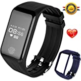 FUNBOT B6 Fitness Tracker Watch:Activity Tracker Smart Band with HR Monitor & Sleep Monitor,IP67 Waterproof Colorful Pedometer Bracelet Wristband with Replacement Band for Women and Men